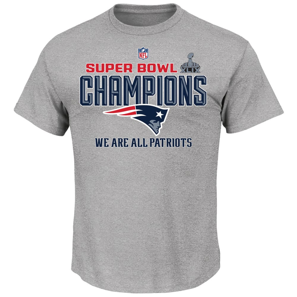 NEW ENGLAND PATRIOTS Men's Super Bowl XLIX Champs Locker Room Tee - GREY