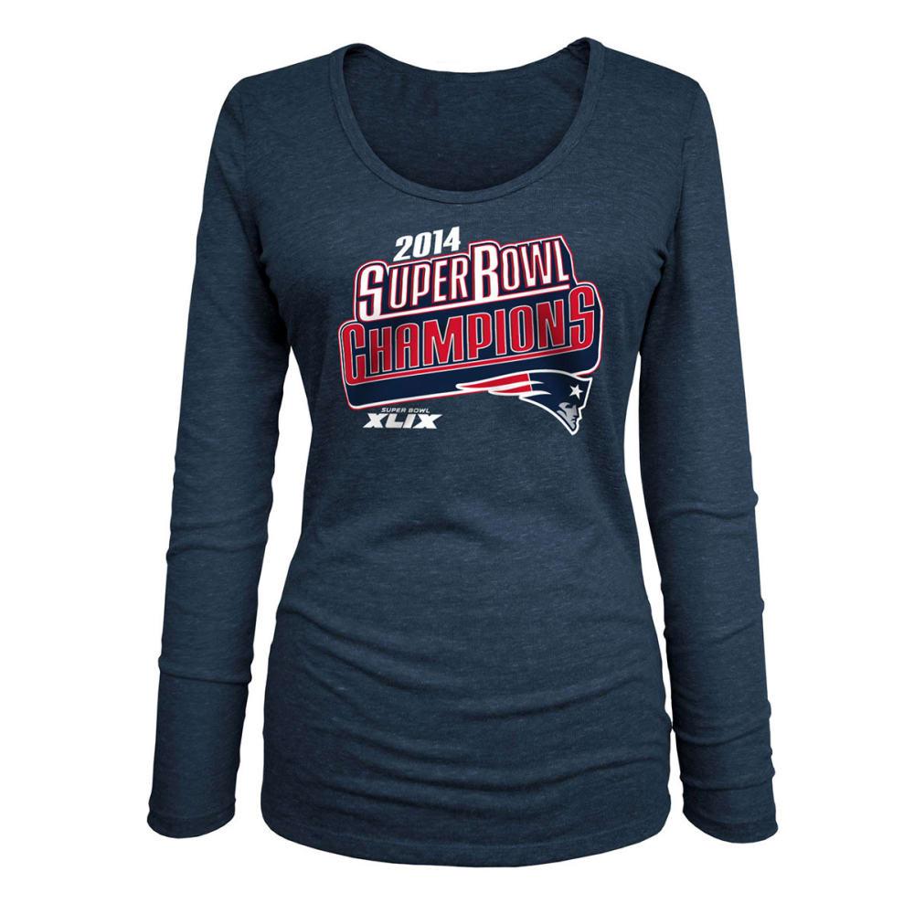 NEW ENGLAND PATRIOTS Women's Super Bowl XLIX Champs Tee, Long Sleeve - Premier - NAVY