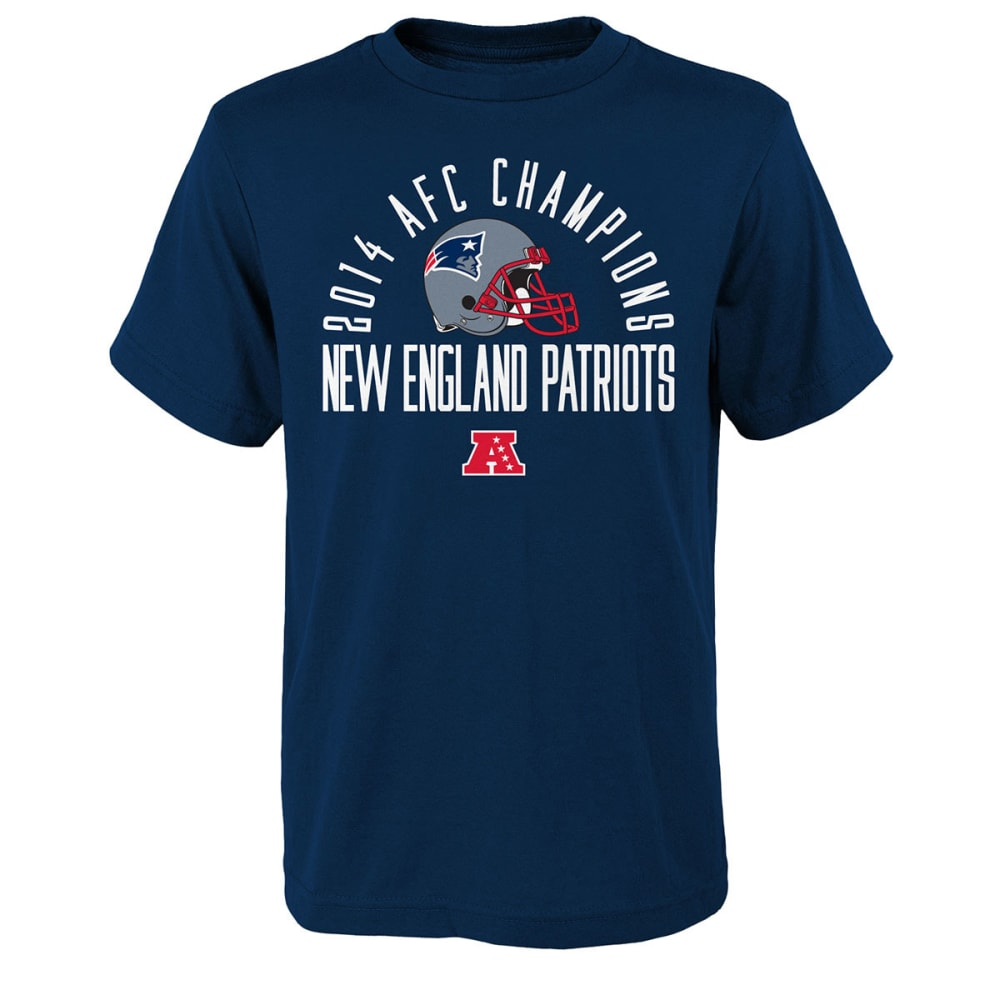 NEW ENGLAND PATRIOTS Boys' 2014 AFC Champions Conference Rise Up Tee, Sizes: 8-20 - NAVY