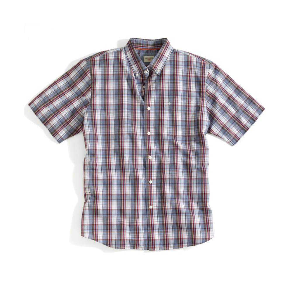 DOCKERS Men's Plaid Shirt - SCOOTER RED