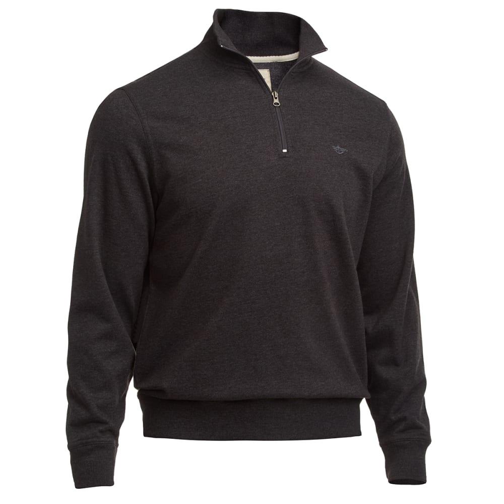 DOCKERS Men's Fleece ¼ Zip - COAL HTR