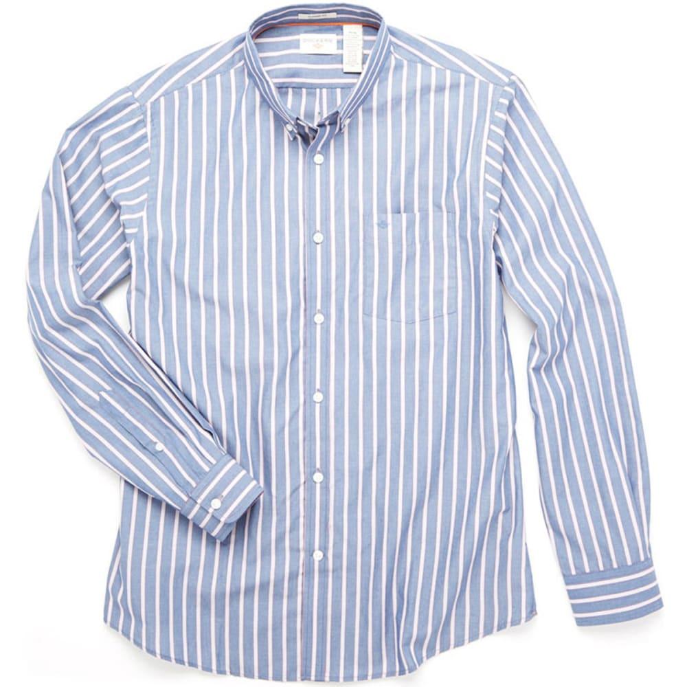 DOCKERS Men's Striped Woven Shirt - INDIGO