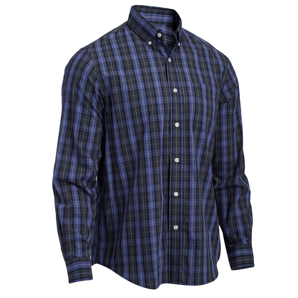 DOCKERS Men's Medium Plaid Woven Shirt - STEELHEAD