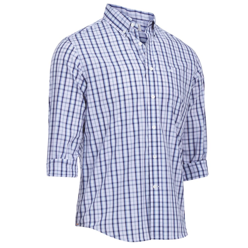 DOCKERS Men's Long-Sleeve Spade Pocket Plaid Shirt - LANGUID LAVENDER