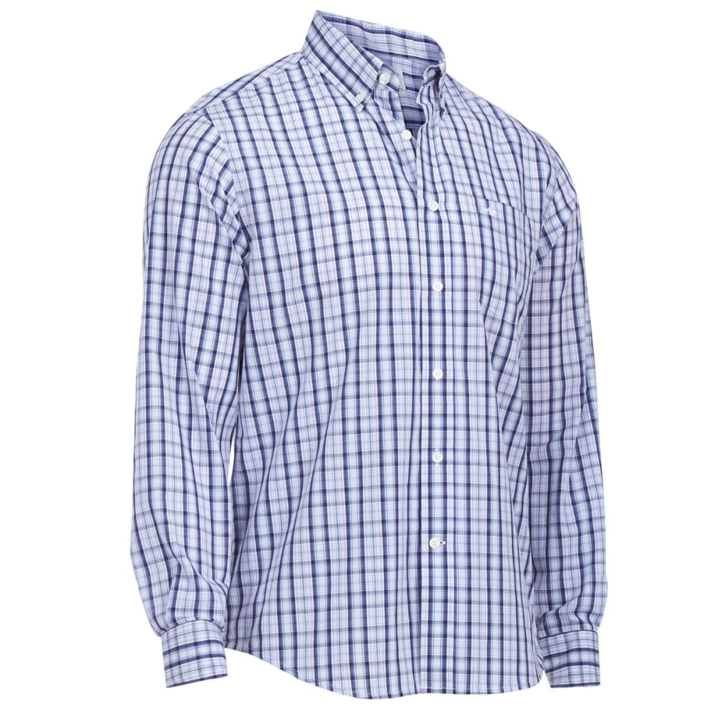 DOCKERS Men's Long-Sleeve Spade Pocket Plaid Shirt - LANGUID LAVENDER