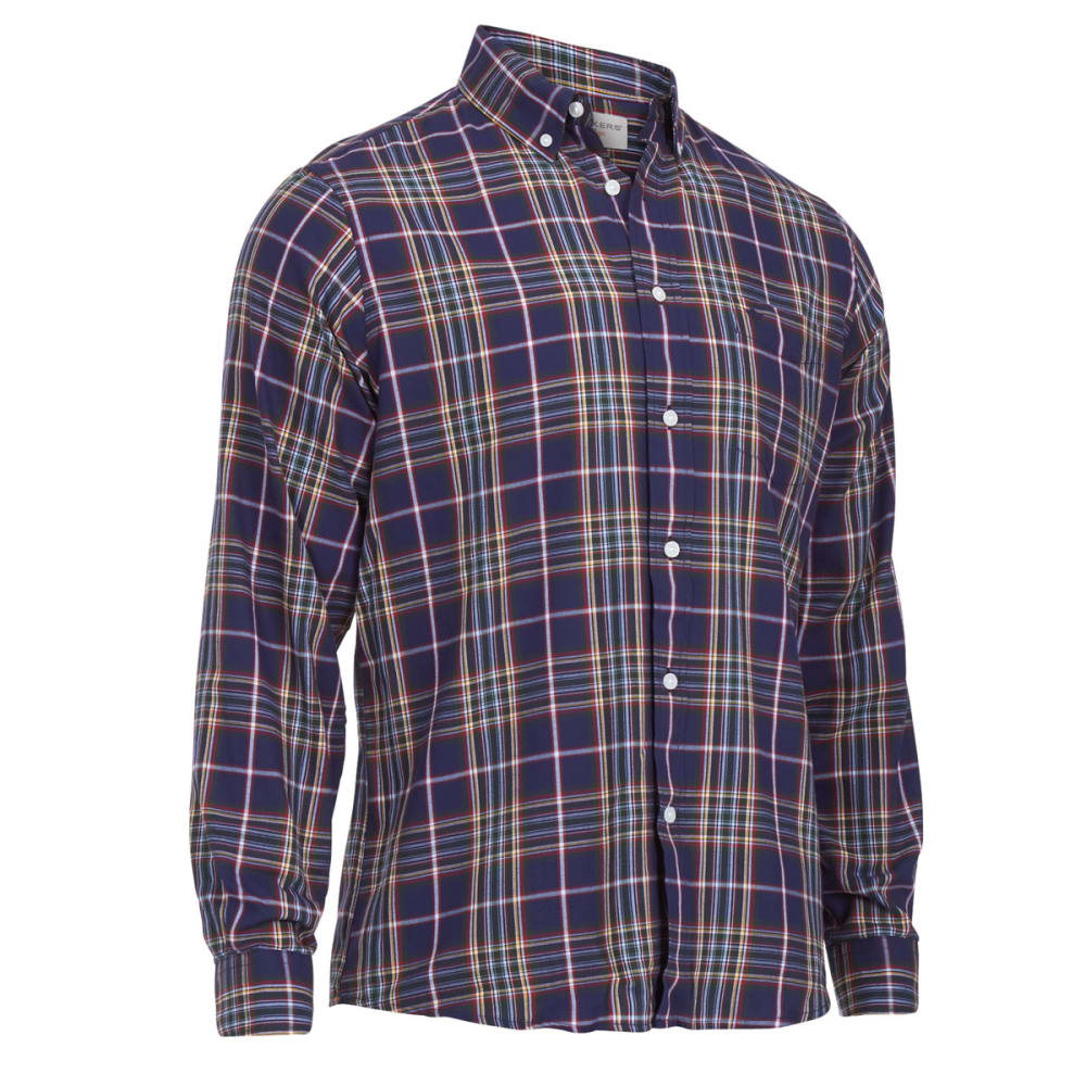 DOCKERS Men's Holiday Plaid Woven Shirt - ECLIPSE