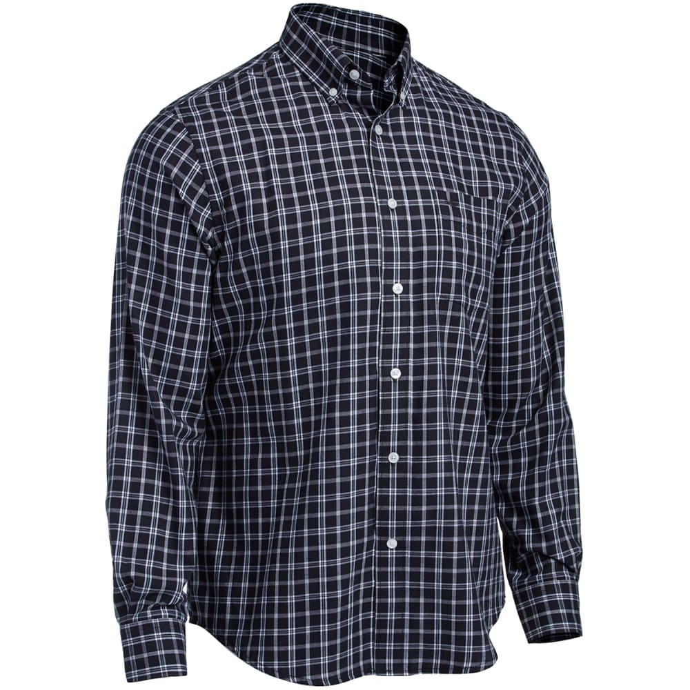 DOCKERS Men's Holiday Plaid - BLACK