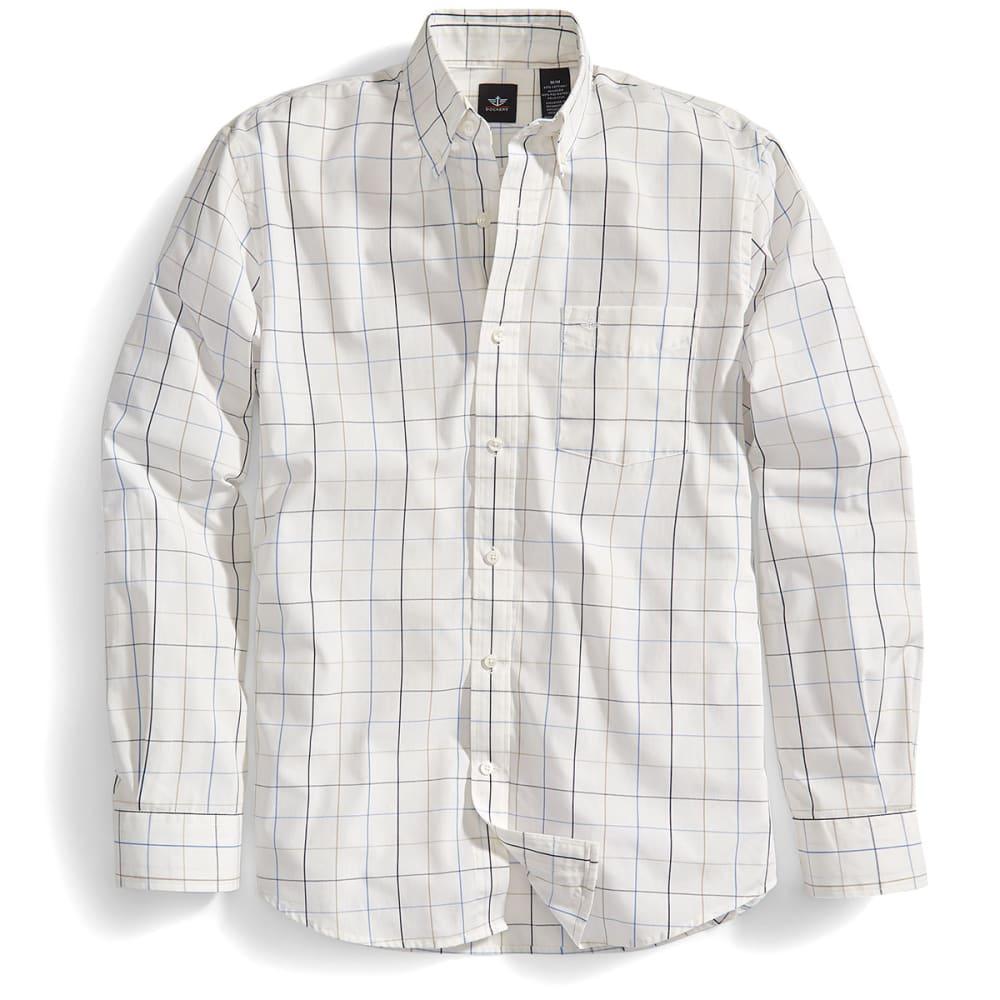 DOCKERS Men's Grid Khaki Long-Sleeve Shirt - 8250-KHAKI