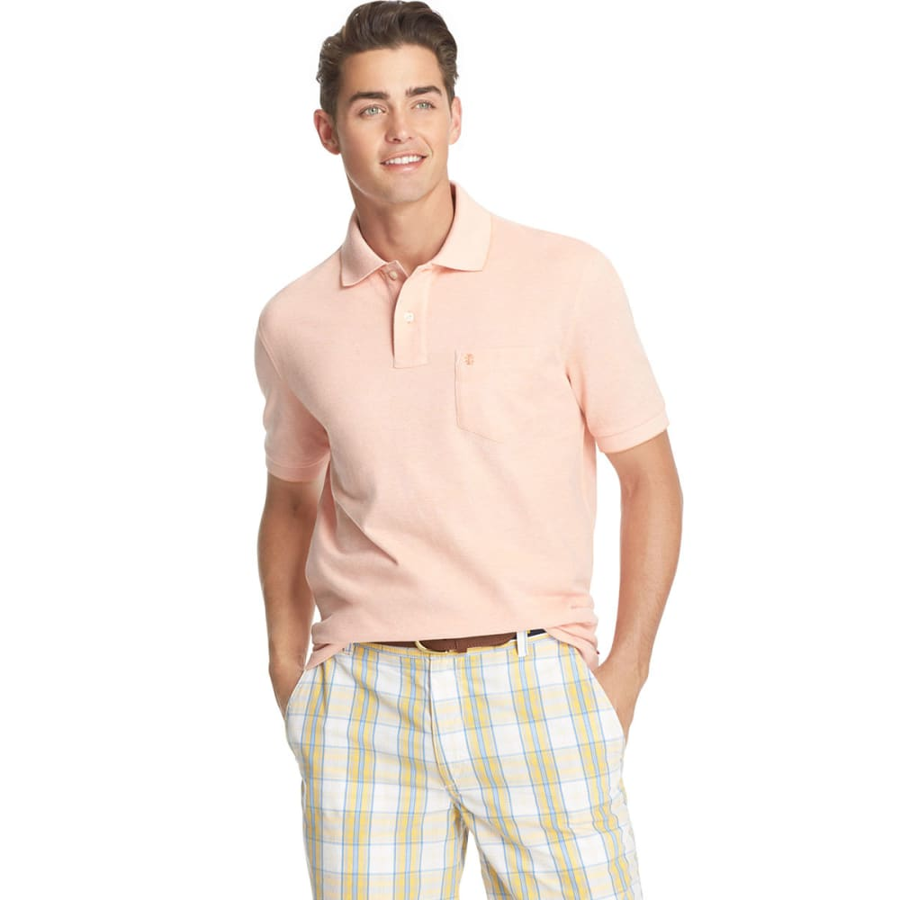 IZOD Men's Cotton Oxford Polo - CORAL