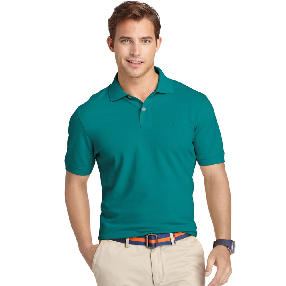 IZOD Men's Classic Fit Solid Pique Polo, Big and Tall - DRAGONFLY-431