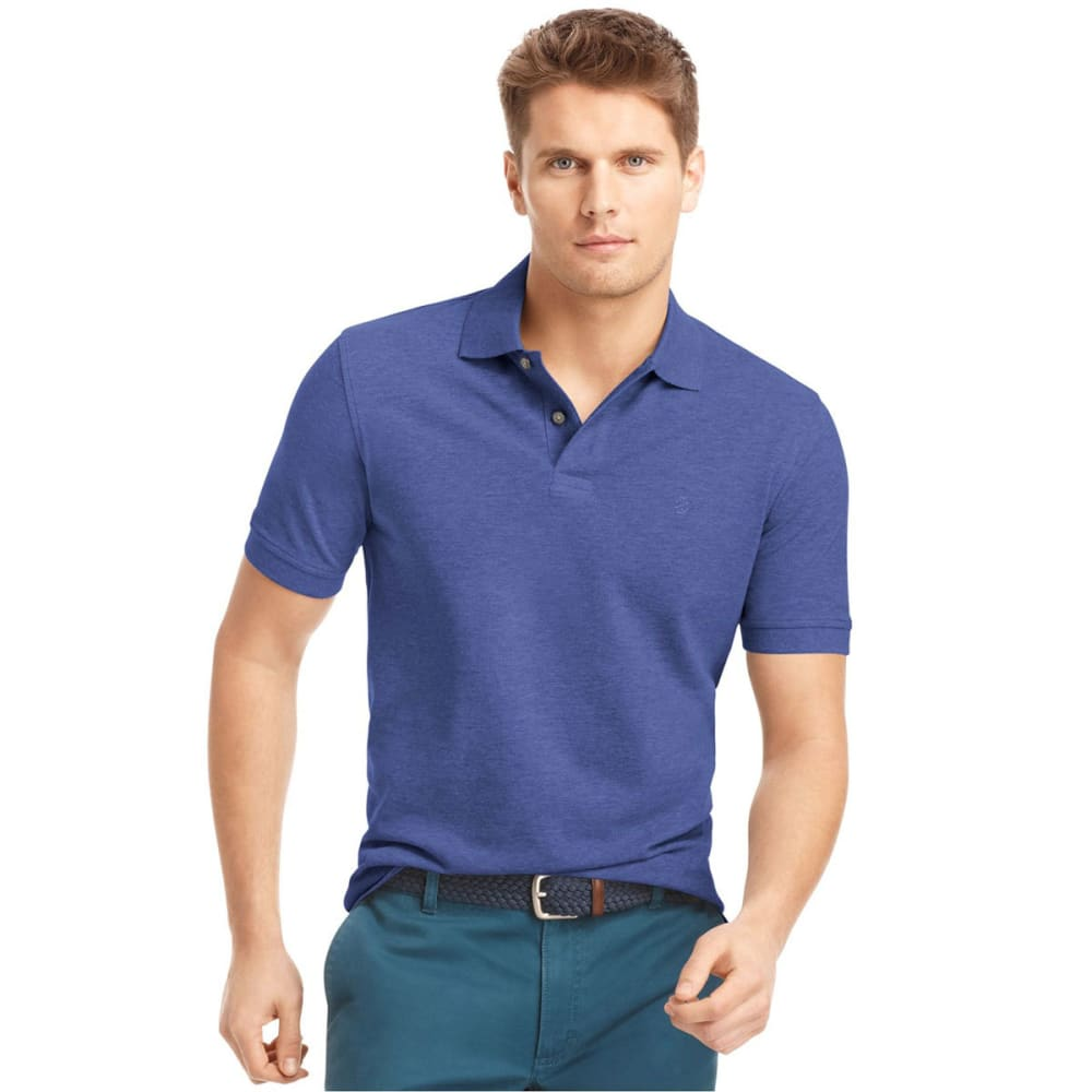 IZOD Men's Classic Fit Solid Pique Polo, Big and Tall - MAZARINE BLUE-494