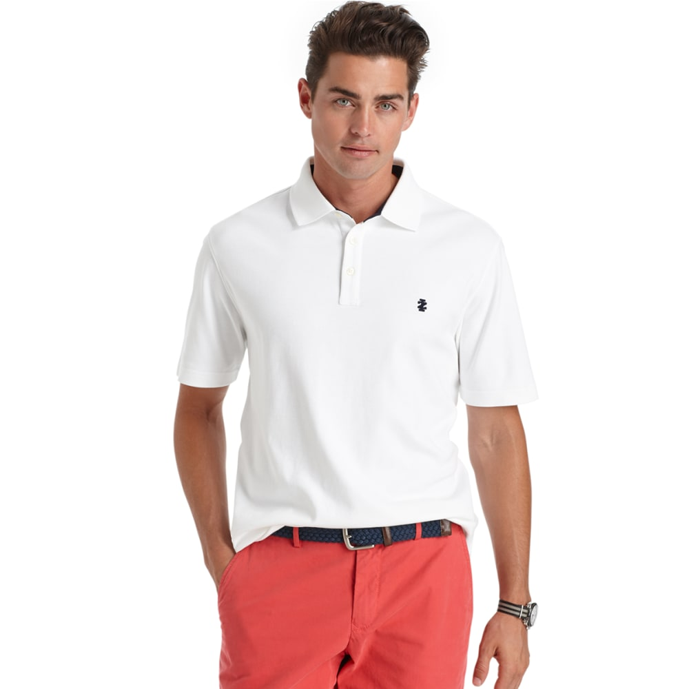 IZOD Men's Solid Interlock Polo - 116-BRIGHT WHITE
