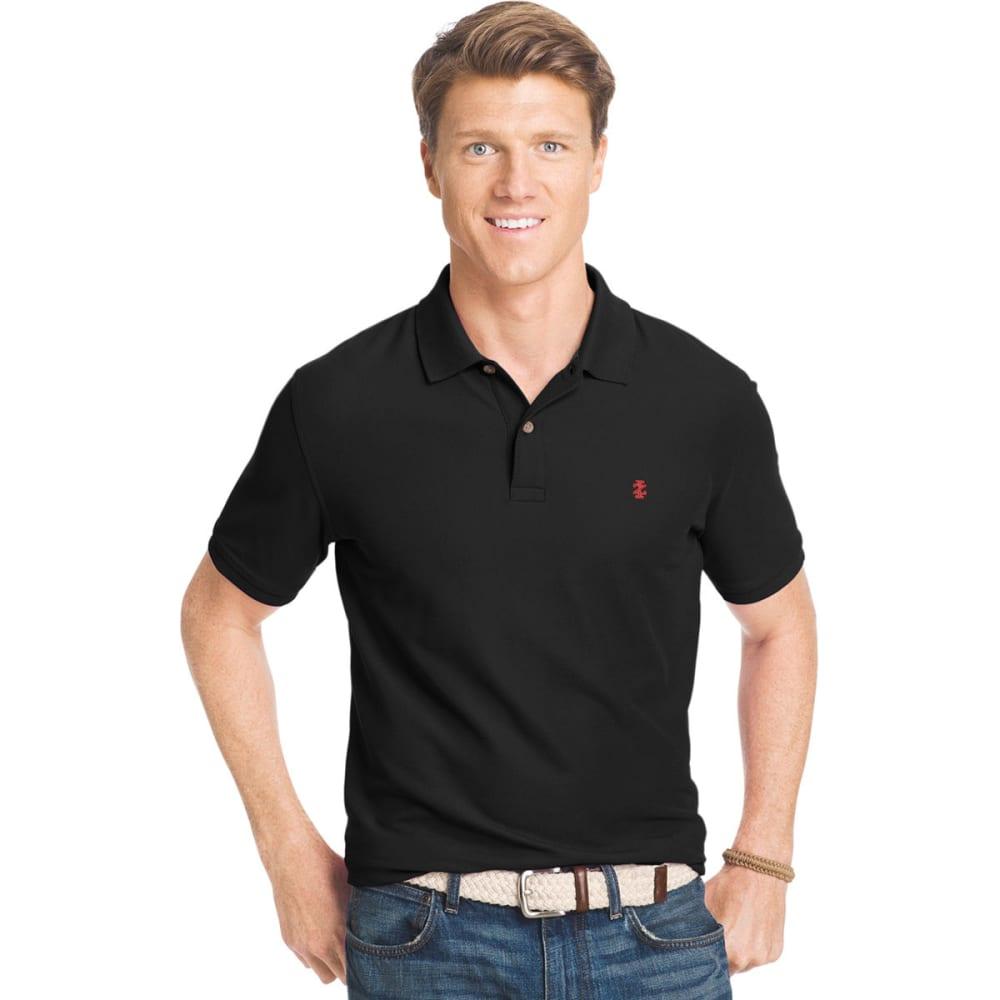 Izod Men's Advantage Performance Polo - Black, S
