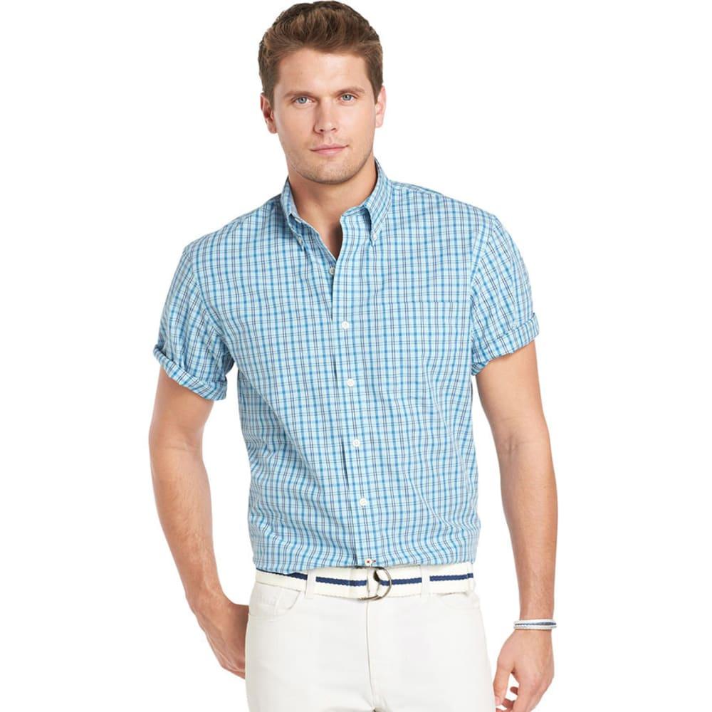 IZOD Men's Saltwater Poplin Shirt - SKY BLUE