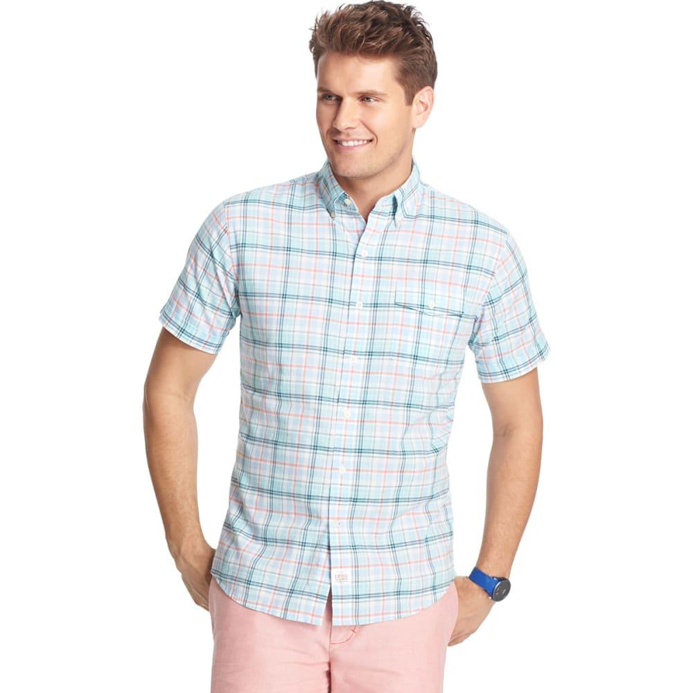 IZOD Men's Short-Sleeve Poplin Woven Shirt, Big and Tall - CHAMBRAY-400
