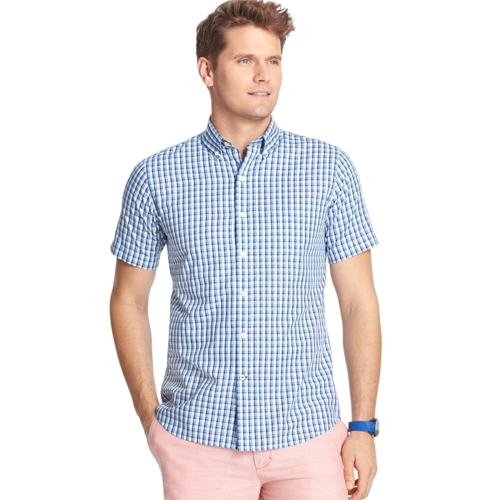 IZOD Men's Short-Sleeve Poplin Woven Shirt, Big and Tall - BLUE REVIVAL-464