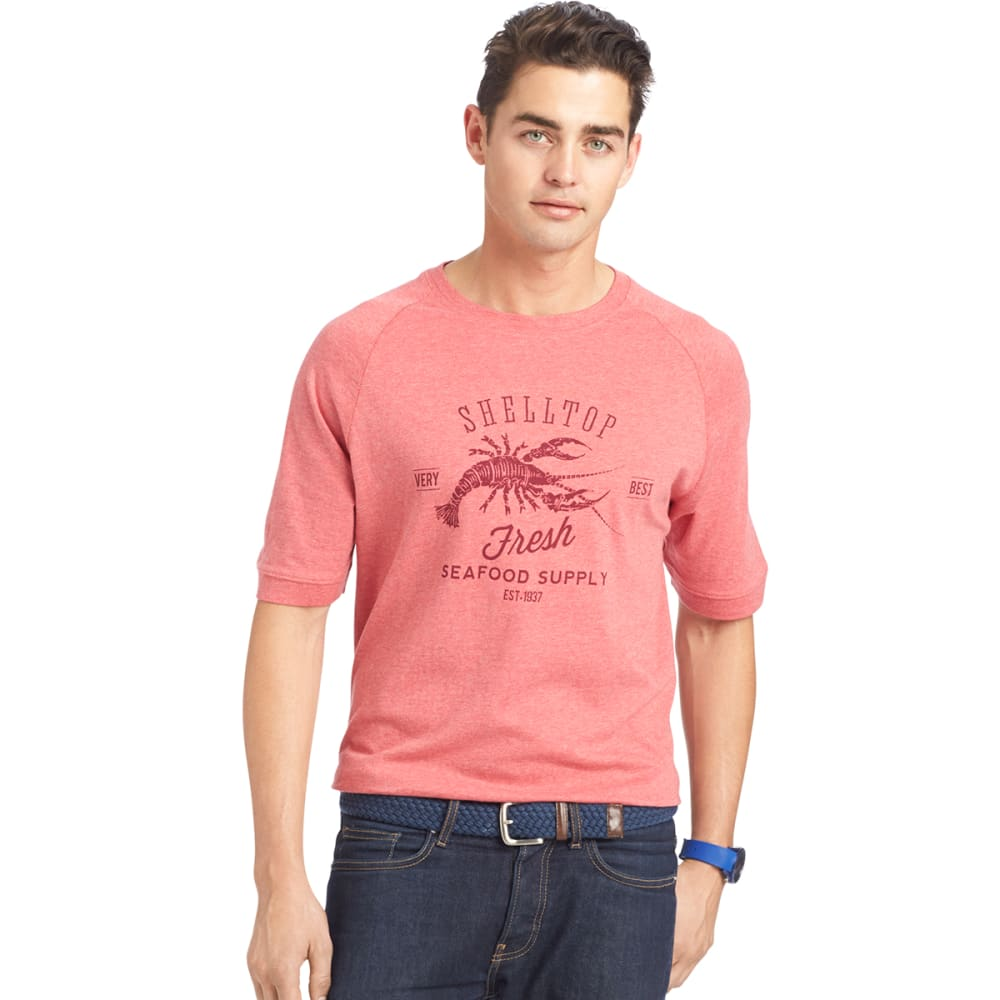 IZOD Men's Shelltop Seafood Supply Graphic Tee - 638-CLARET RED