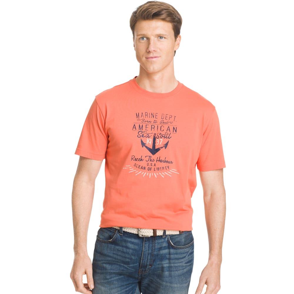 IZOD Men's Marine Anchor Graphic Tee - 810-CAMELLIA