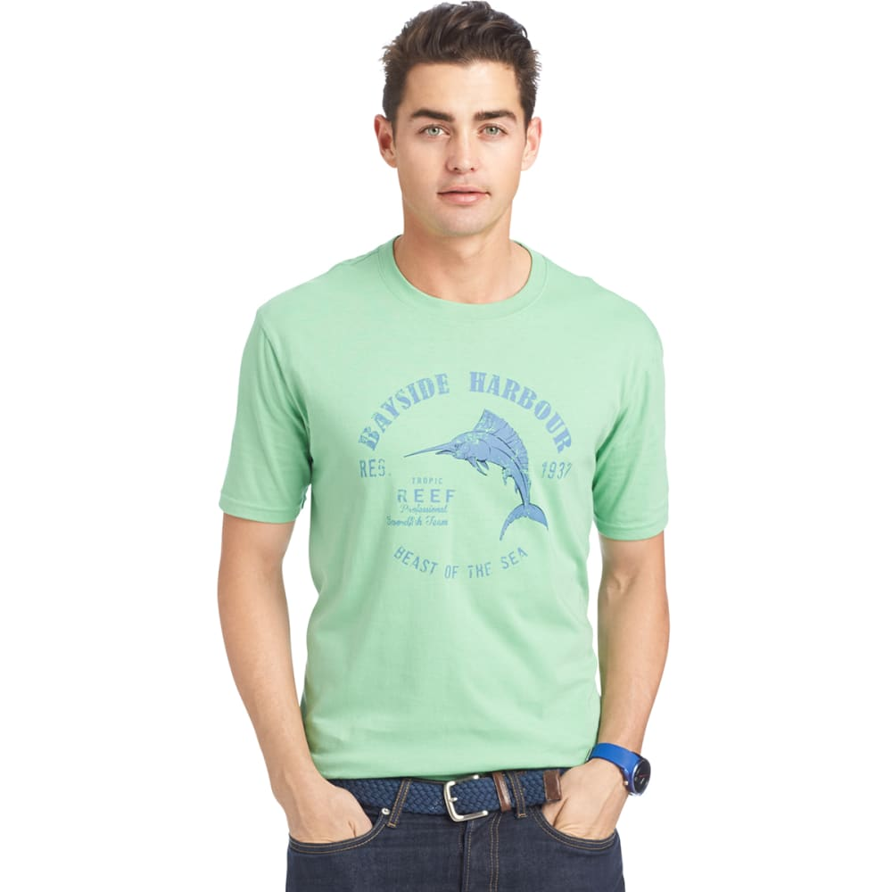 IZOD Men's Bayside Harbour Graphic Tee - 317-ABSINTHE GRN