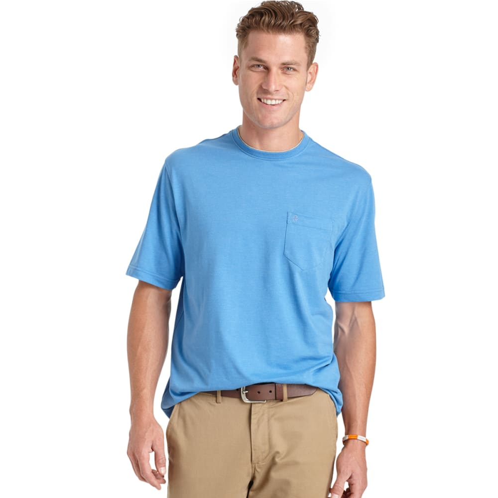 IZOD Men's Solid Pocket Tee - 464-BLUE REVIVAL