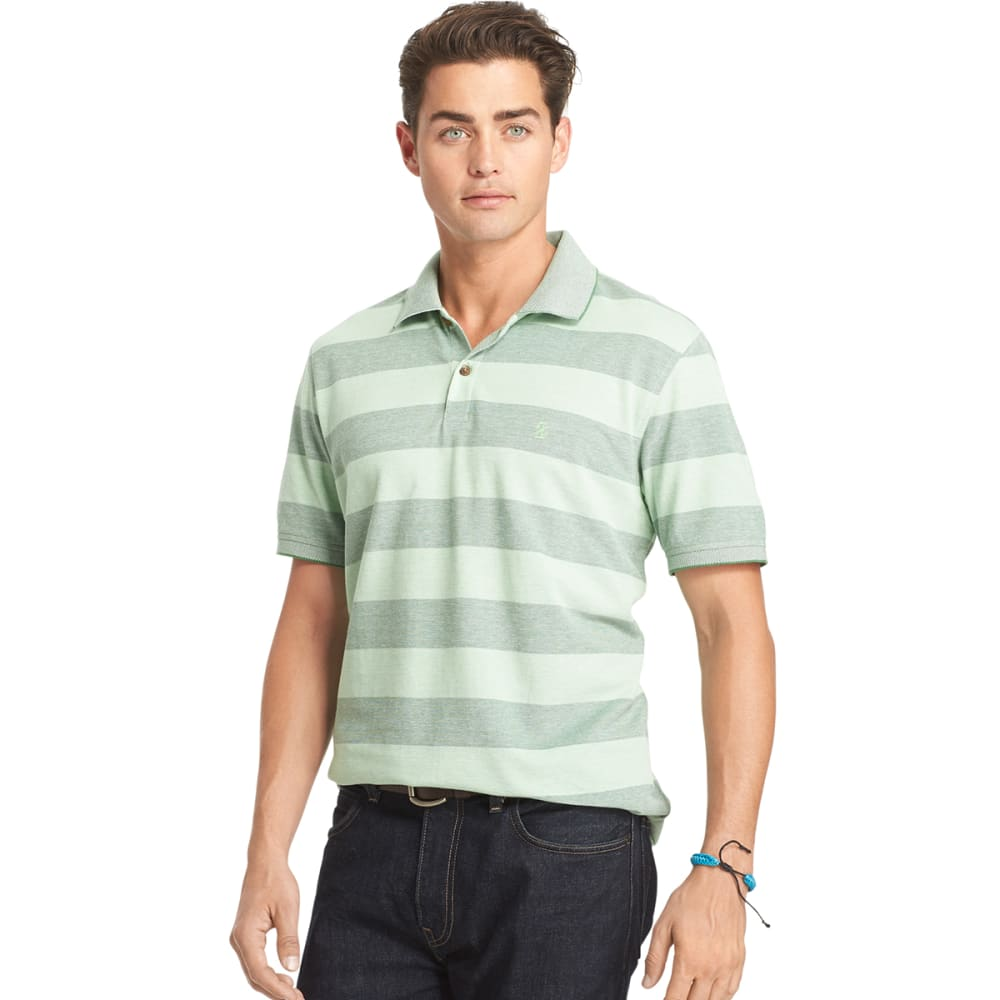 IZOD Men's Rugby Stripe Oxford Polo - 394-FAIRWAY