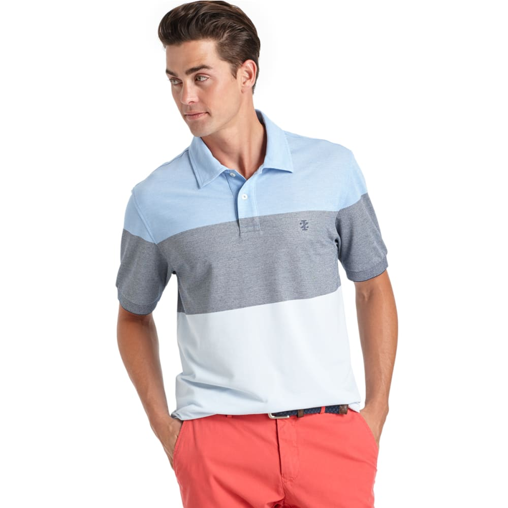 IZOD Men's Colorblock Oxford Polo - 464-BLUE REVIVAL