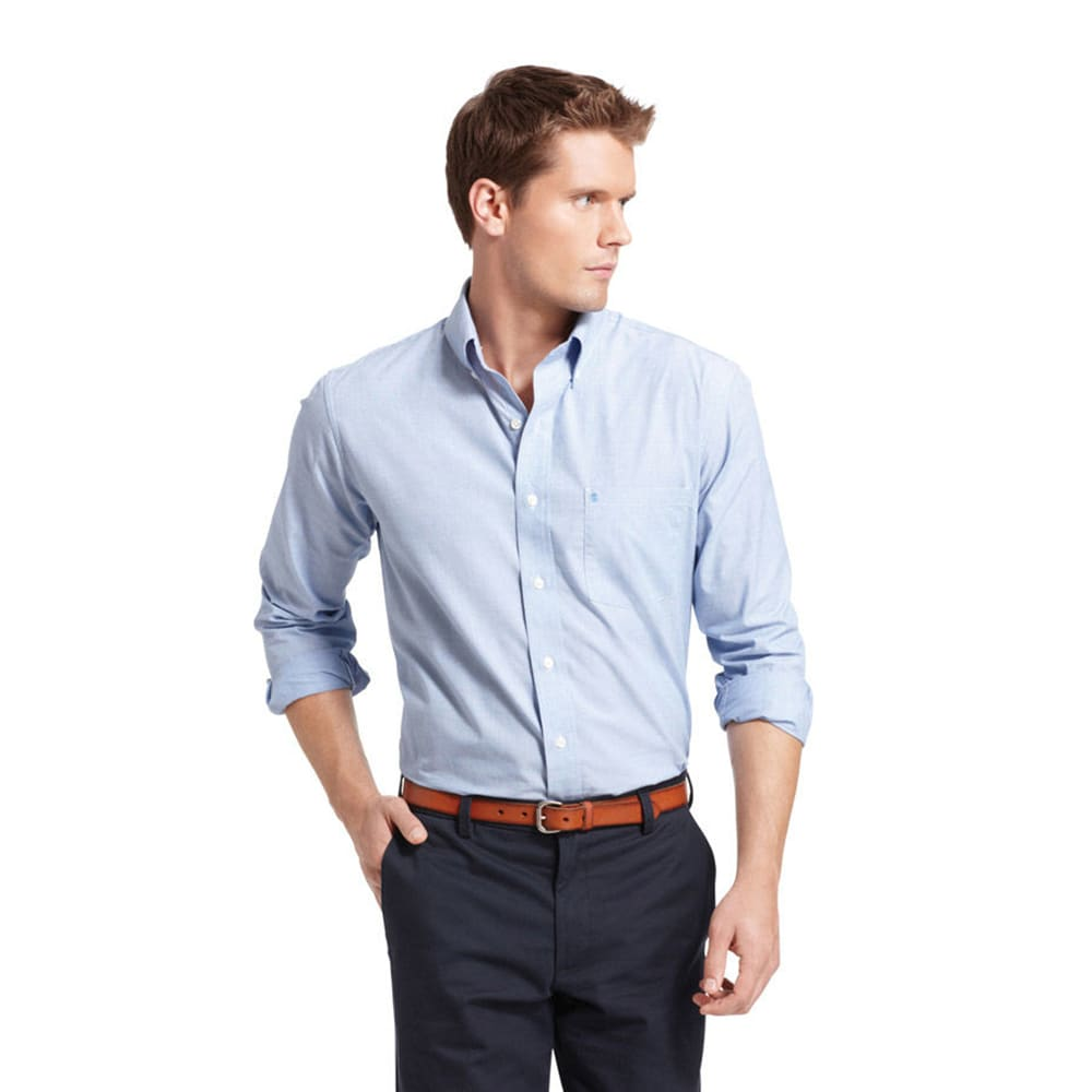 IZOD Men's Essential Solid Woven Shirt S