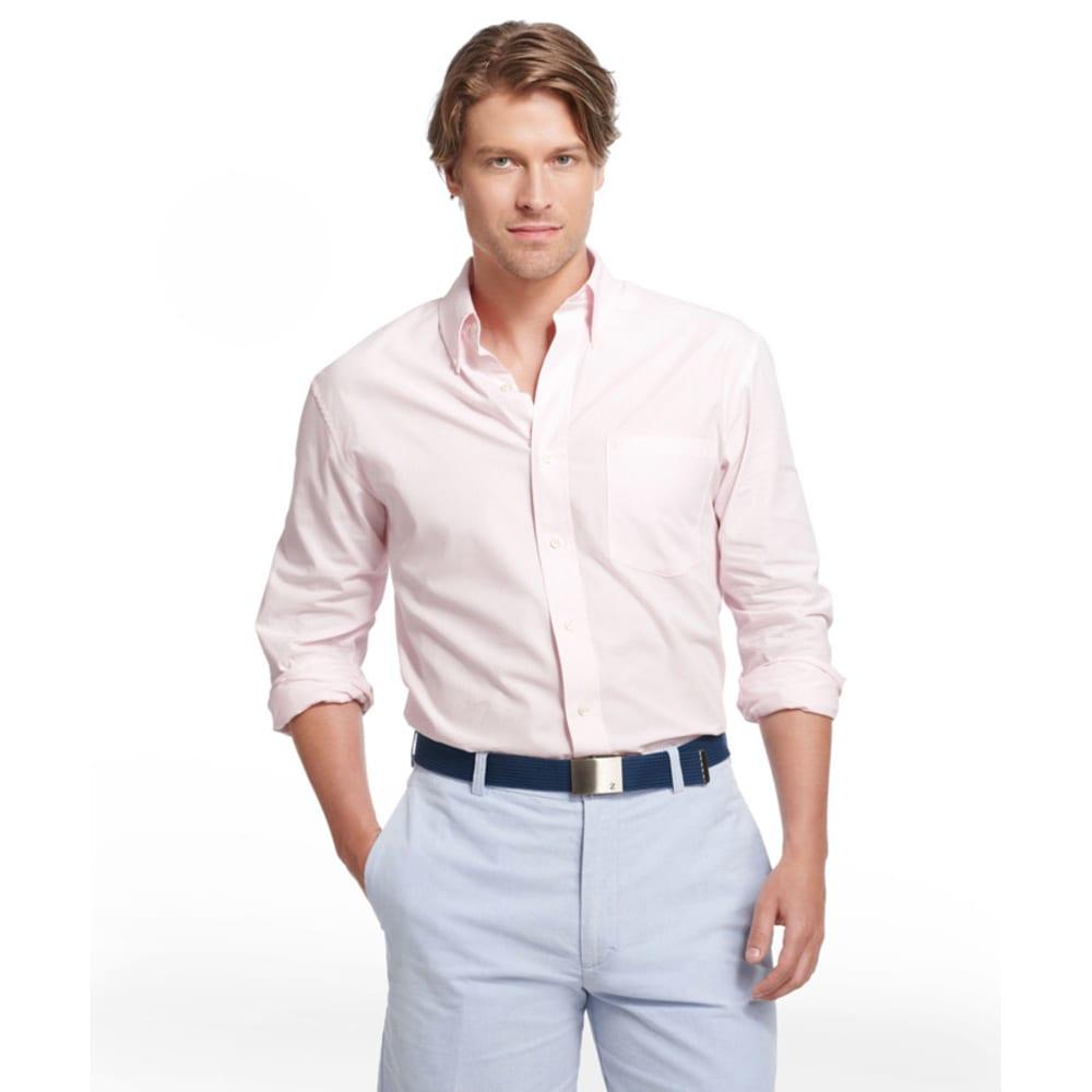 IZOD Men's Essential Stripe Woven Shirt - 668-CRADLE PINK