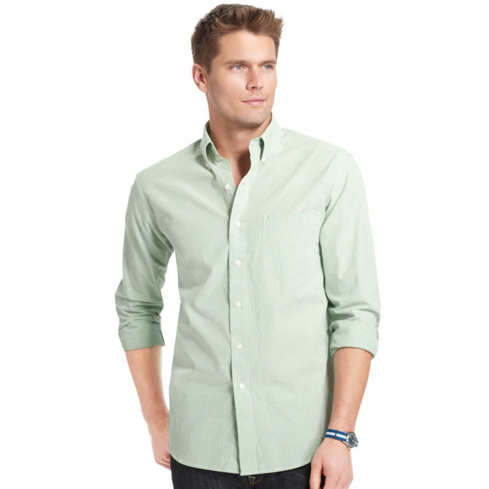 IZOD Men's Essential Mini Checkered Woven Shirt - 332-SEACREST