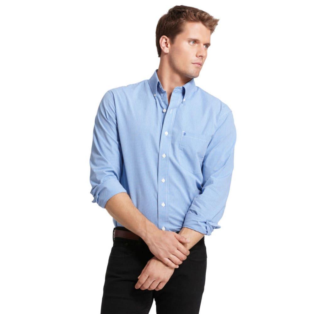 IZOD Men's Essential Mini Checkered Woven Shirt - 420-AMERICAN DREAM