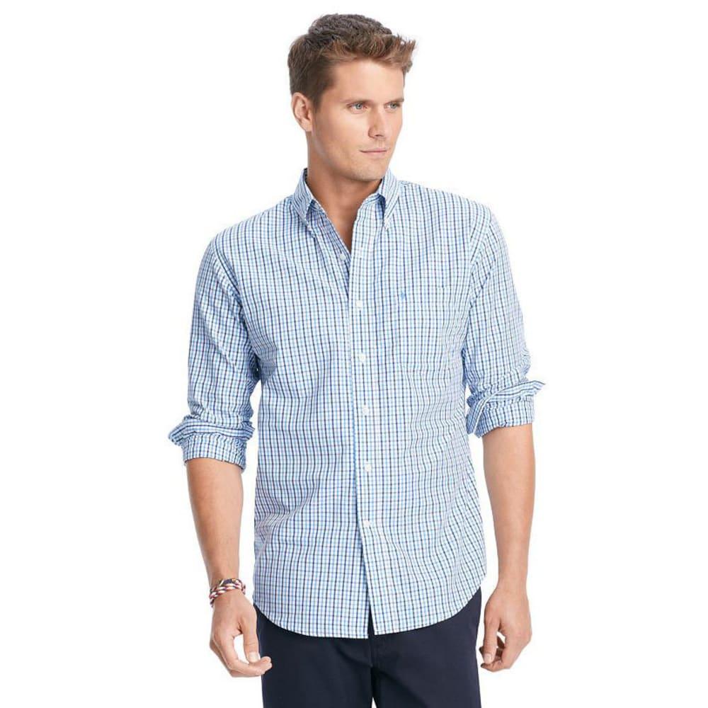 IZOD Men's Essential Tattersall Button-Down Woven Shirt - 420-AMER DREAM