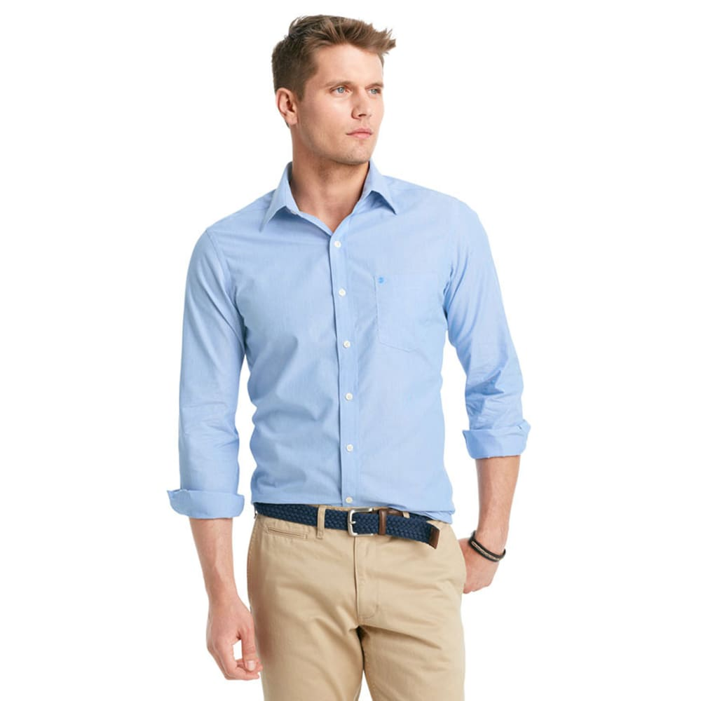 IZOD Men's Slim Fit Long Sleeve Button Down Striped Shirt - AMERICAN DREAM