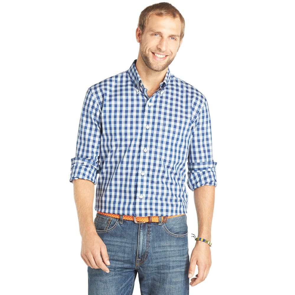 IZOD Men's Road Trip Check Skyway Shirt - SKYWAY