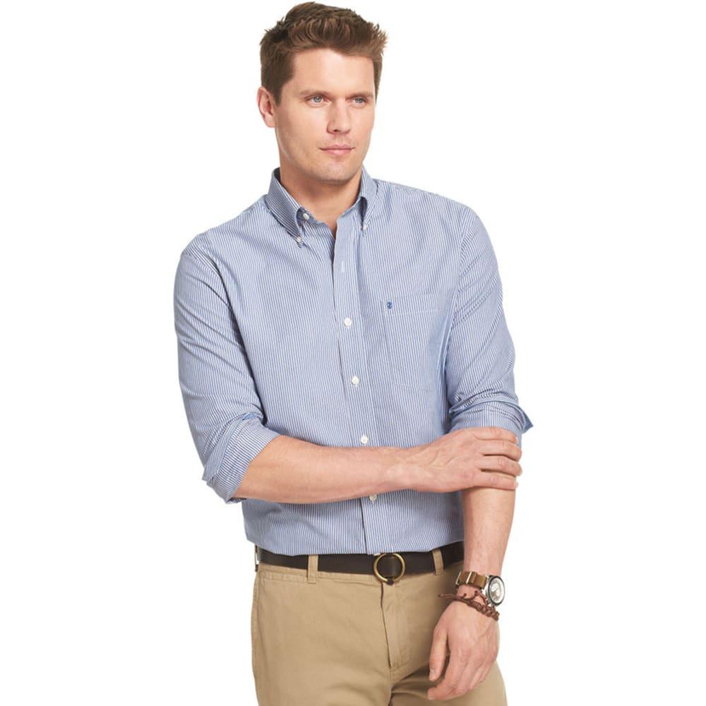 IZOD Men's Road Trip Essential Stripe Woven Shirt - TRUE BLUE