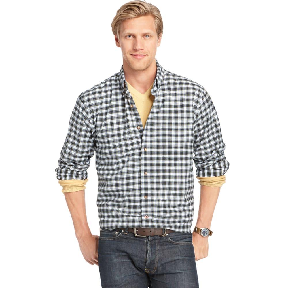 IZOD Men's Tartan Button-Down Woven Shirt - ESTATE BLUE-403