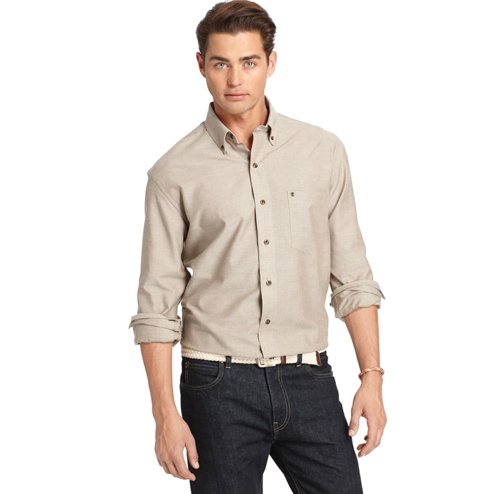 IZOD Men's Solid Oxford Long Sleeve Woven Shirt - CUB-208