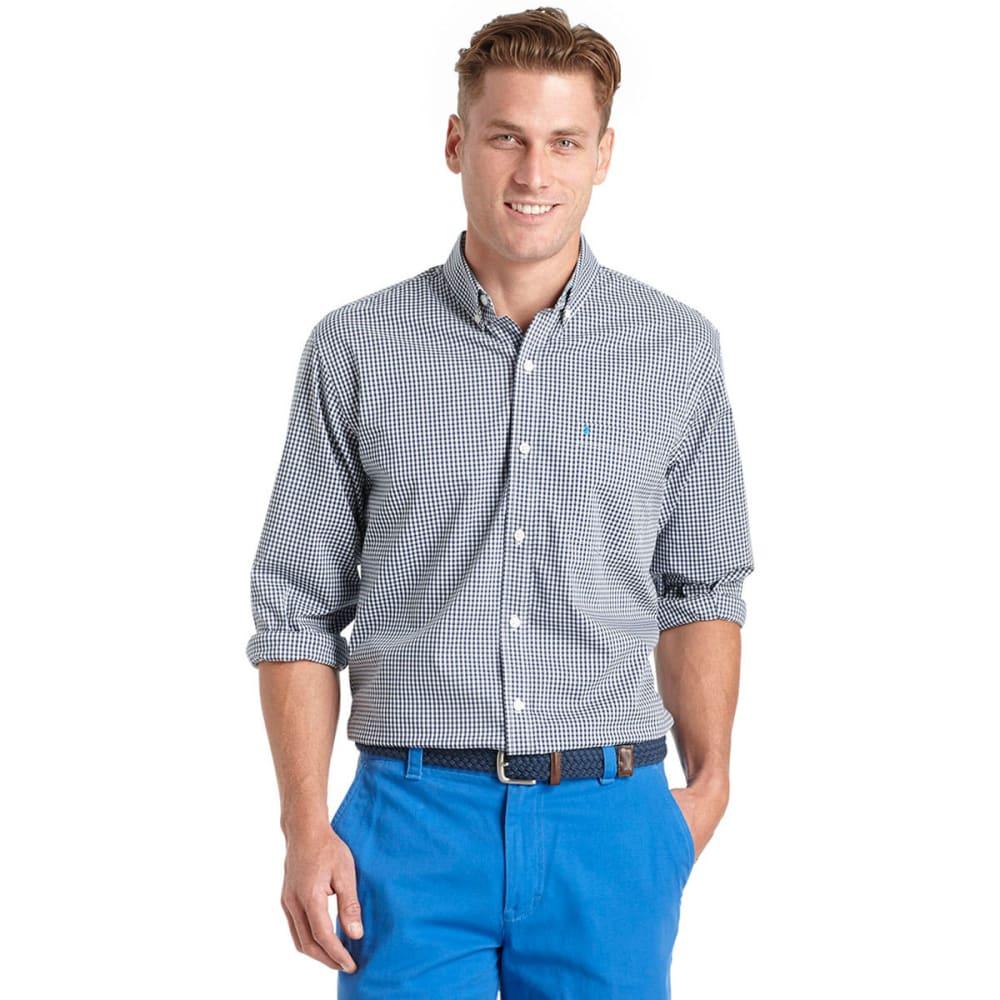 IZOD Men's Stretch Long-Sleeve Gingham Shirt - 403-PEACOAT