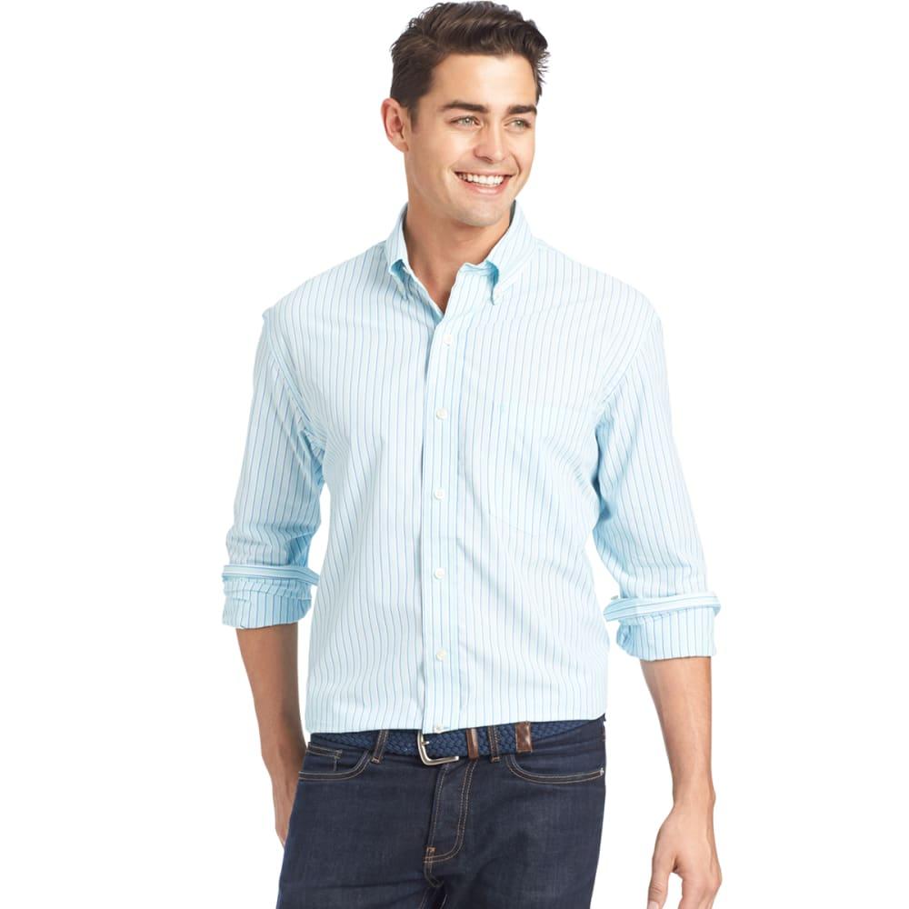 IZOD Men's Essential Striped Woven Shirt - 458-AQUA SKY