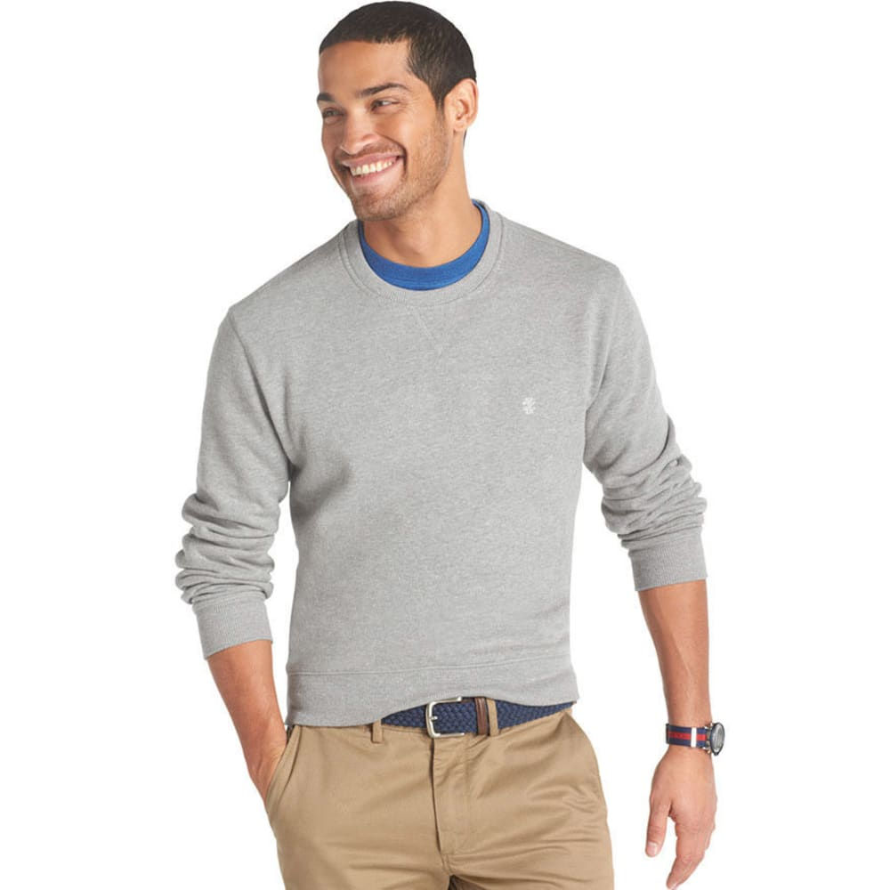 IZOD Men's Big and Tall Sueded Fleece Top - VALUE DEAL - LIGHT GREY