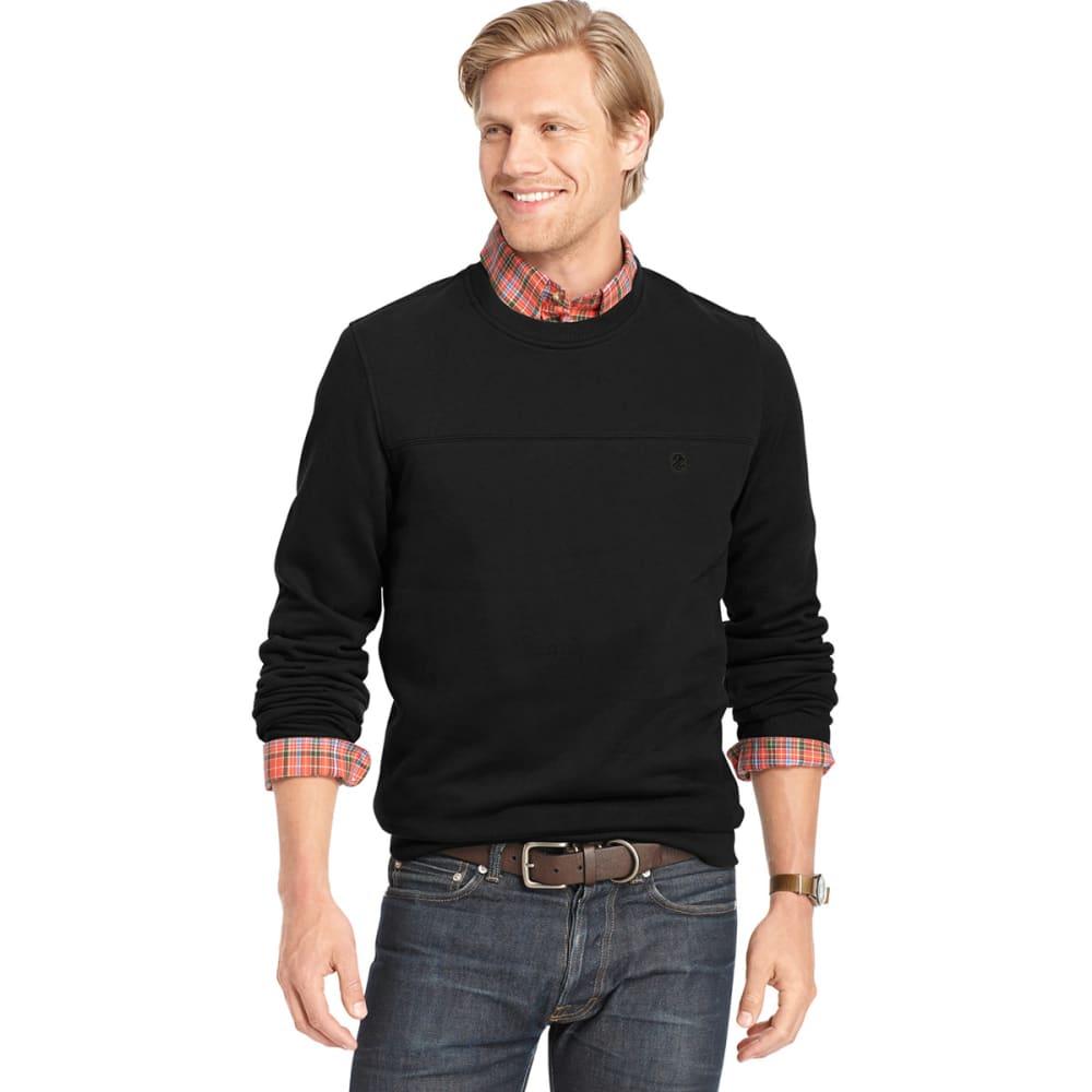 IZOD Men's Sueded Fleece Crew Pullover - BLACK