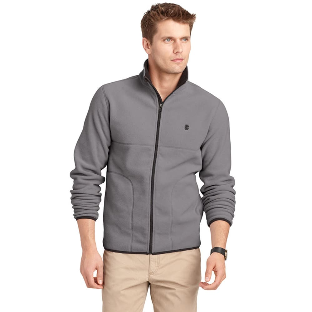 IZOD Men's Polar Fleece Jacket - DARK GREY