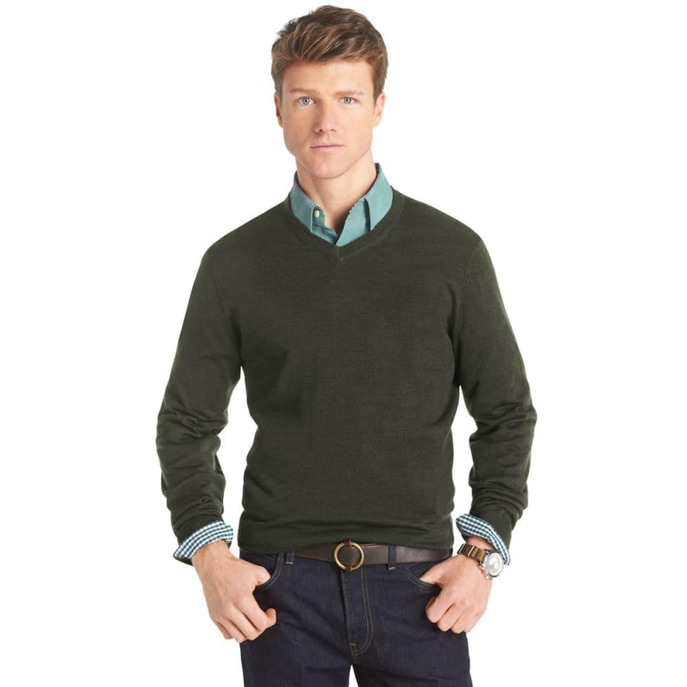 IZOD Men's Long-Sleeve V-Neck Merino Sweater - ALGAE
