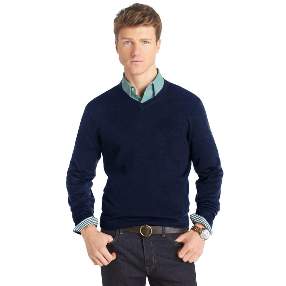 IZOD Men's Long-Sleeve V-Neck Merino Sweater - HORIZON BLUE