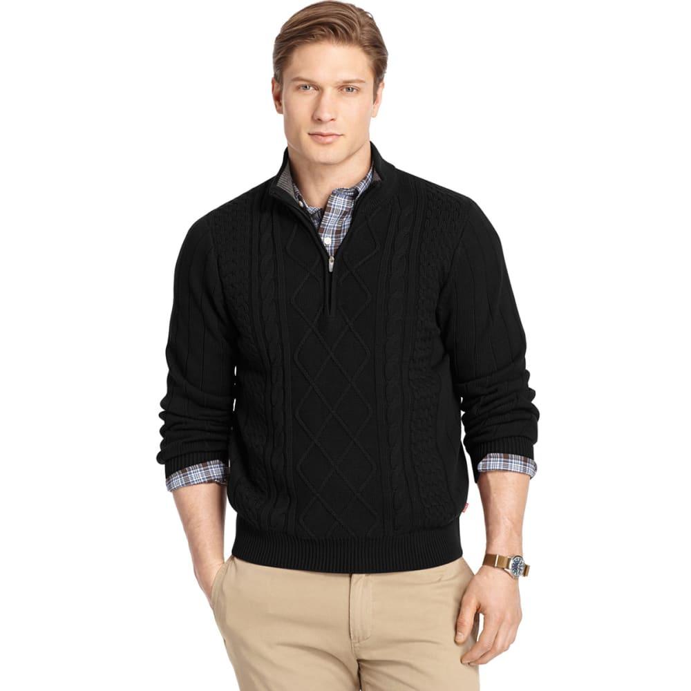 IZOD Men's Cable ¼ Zip Sweater - BLACK