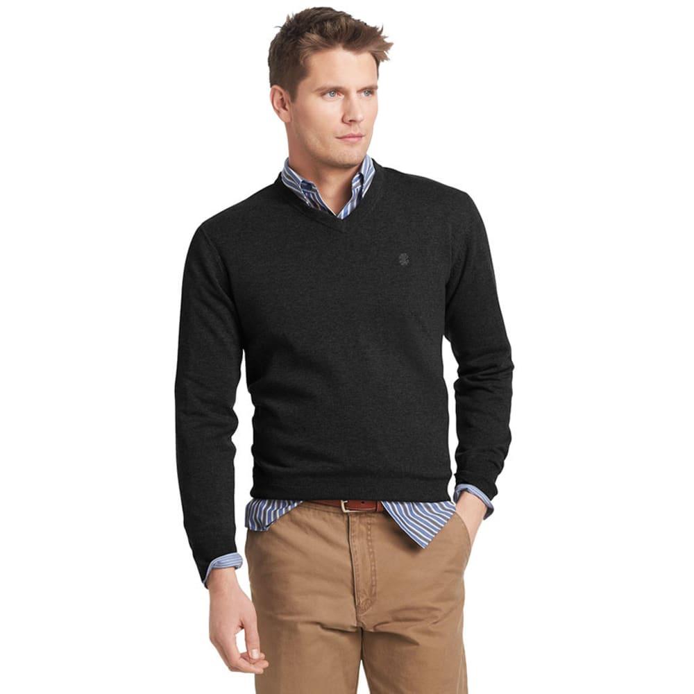 IZOD Men's Big And Tall V-Neck Fine Gauge Sweater - BLACK