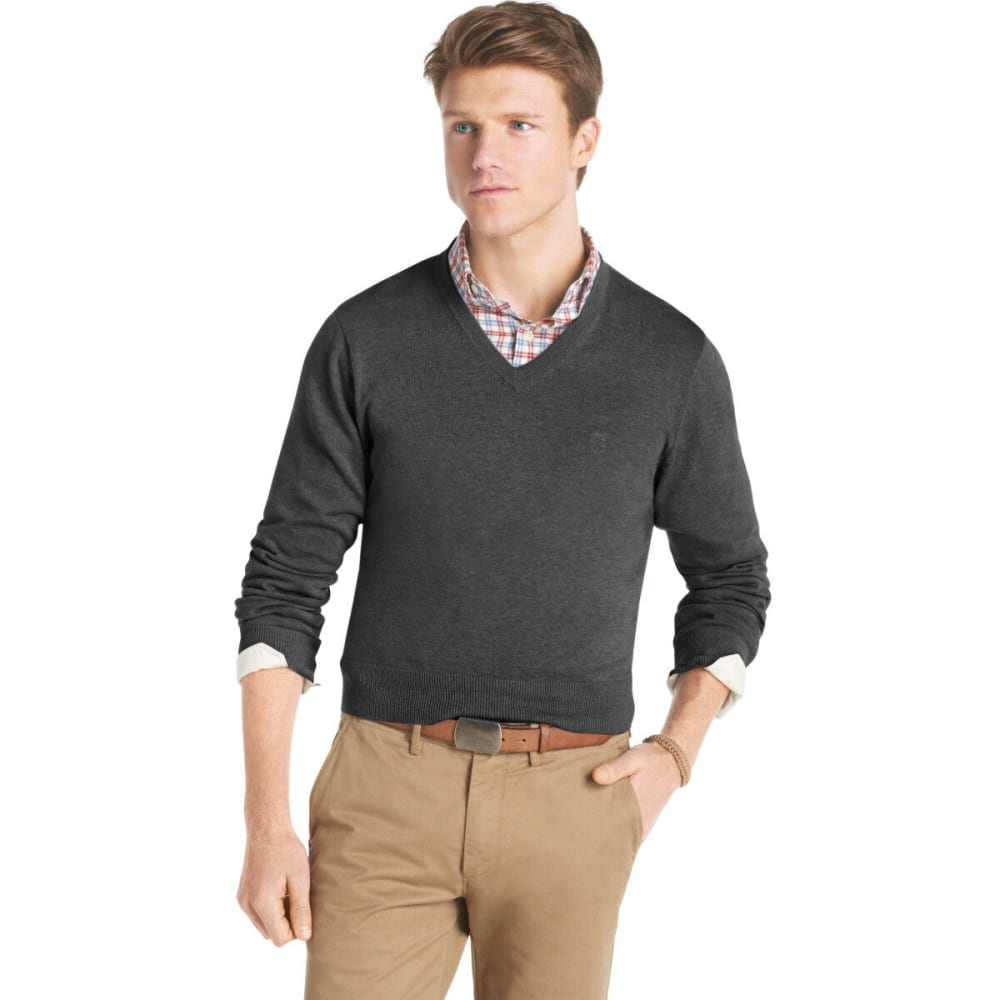 IZOD Men's V-Neck Sweater - CARBON HEATHER