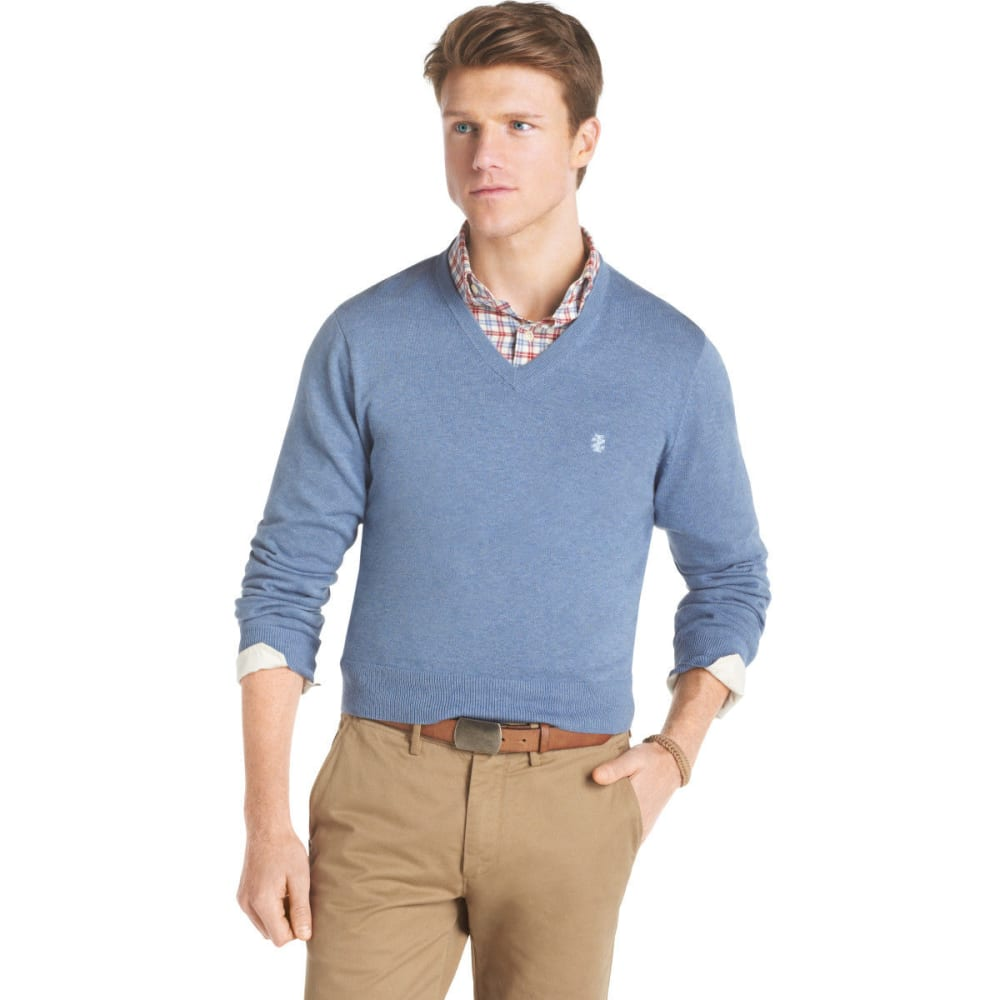IZOD Men's V-Neck Sweater - COLONY BLUE