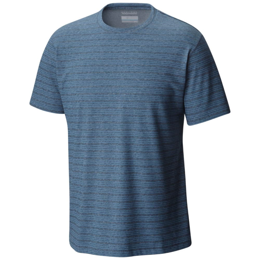 COLUMBIA Men's Thistletown Park Stripe Crew Short-Sleeve Tee - ZINC-492