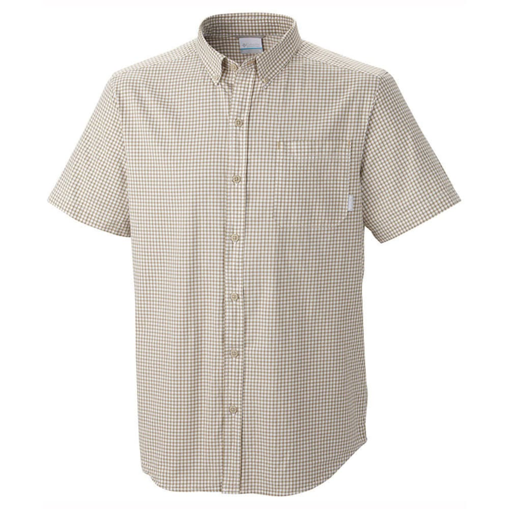 COLUMBIA Men's Rapid Rivers Check Woven Shirt - BLOWOUT - FOSSIL