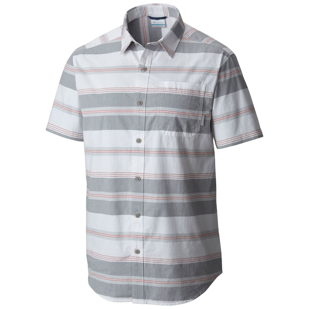COLUMBIA Men's Thompson Hill II Yarn Dye Shirt - GRY ASH STRIPE-022